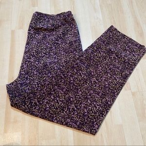 Vintage Fairset petite multicoloured pleated pants